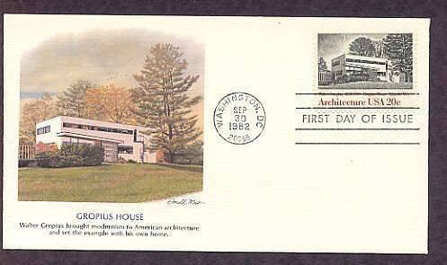 American Architecture, Architect Walter Gropius, Gropius House, First Issue USA