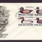 Duck Decoys Folk Art Carvings, First Issue USA, AM FDC