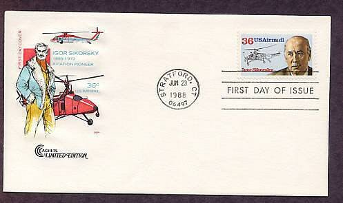 Igor Sikorsky, Helicopter, Aircraft Aviation, Stratford, Connecticut HF First Issue USA