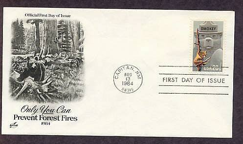 Smokey the Bear, Prevent Forest Fires, AC First Issue FDC USA