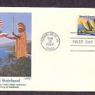 25th Anniversary, Hawaii Statehood, Eastern Polynesian Canoe, FW, First Issue USA
