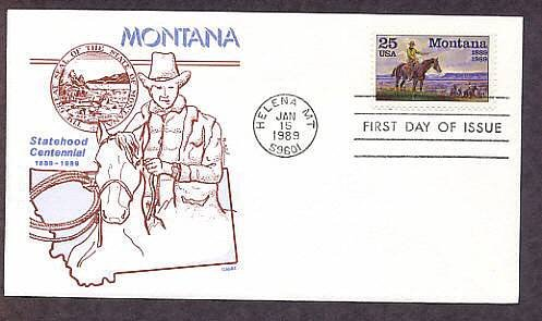 Centennial Montana Statehood, Western Artist Charles M. Russell and his Friends, Gamm First Issue