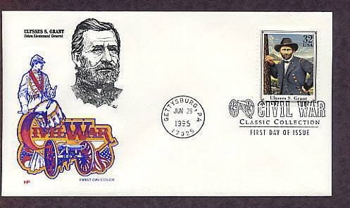 Civil War General Ulysses S. Grant, Gettysburg, HF First Issue USA