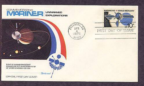 NASA Mariner 10 Exploration of Space Mission to Venus and Mercury Fleetwood First Issue USA