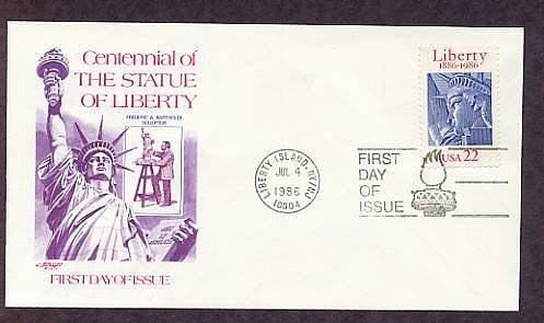100th Anniversary Statue of Liberty, Liberty Island, New York AM First Issue USA