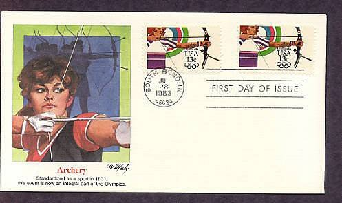 Olympics 1984, Archery, First Issue USA