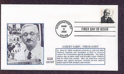 Dr. Albert Sabin, First to Develop the Oral Polio Vaccine, Medicine 2006 First Issue USA