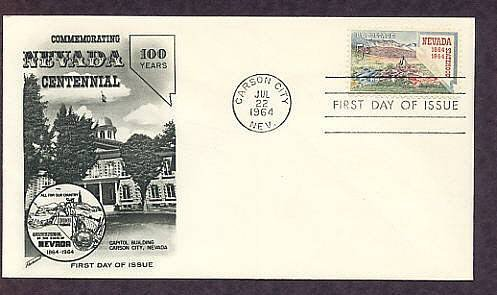 Centennial Nevada Statehood, Carson City 1964 First Issue USA
