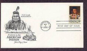 Native American Indian Chief Joseph, Nez Perce, Cyrenius Hall, First Issue USA