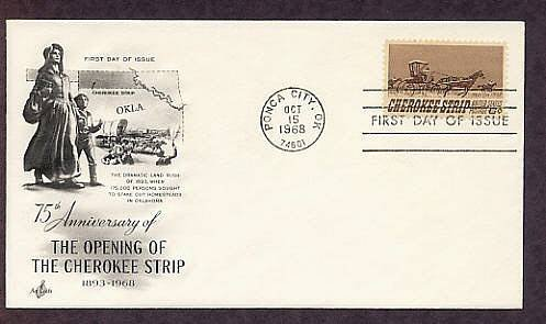 Opening of the Cherokee Strip, 75th Anniversary, First Issue USA