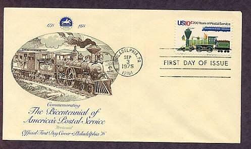U.S. Postal Service, USPS Bicentennial, Locomotives, First Issue USA