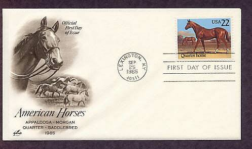 Quarter Horse, Lexington, Kentucky, 1985 First Issue USA
