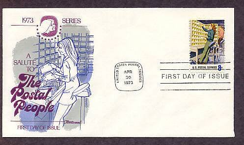USPS Postal People, Mail Letter Case Sorting, First Issue USA
