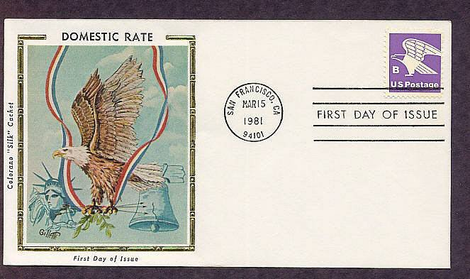 USPS Bald Eagle Emblem U.S. Mail First Issue Post Office USA