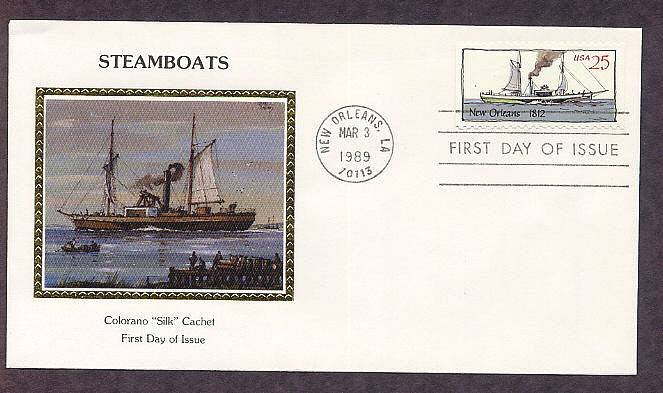 American Riverboats, Paddlewheelers, Showboats, First Issue FDC USA