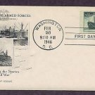 Honoring the Achievements of the Merchant Marine in World War II, Liberty Ship, 1946 First Issue