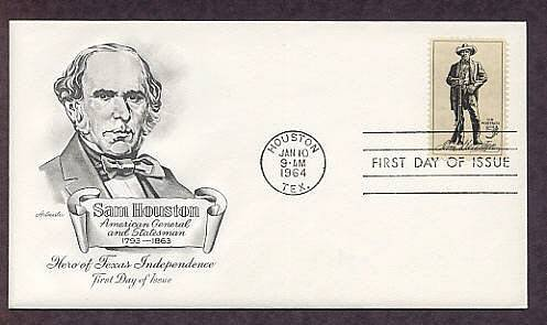 Honoring Sam Houston, Texas, American Hero, AM First Issue USA