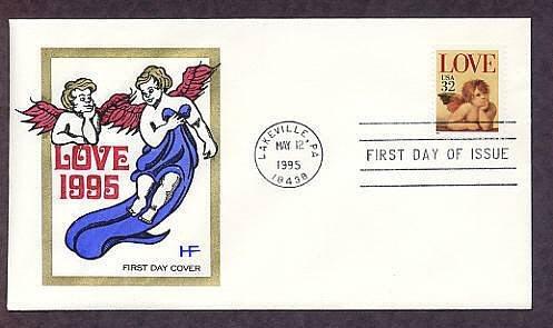 1995 USPS Love Stamp, Raphael Cherub, Cherubs, First Issue USA