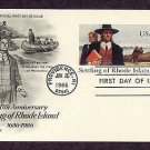 350th Anniversary, Settling of Rhode Island, Roger Williams, First Issue USA
