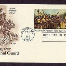 National Guard, 350th Anniversary, Postal Card First Day of Issue USA