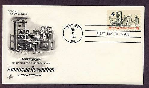 American Revolution Bicentennial, Pamphleteer, Printing Press, First Issue