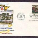 American Revolution Bicentennial, Battle of Lexington & Concord, North Bridge, First Issue USA