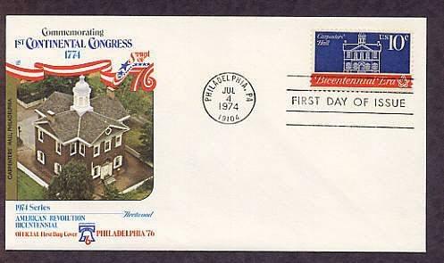 Bicentennial, First Continental Congress, Carpenters' Hall, First Issue USA