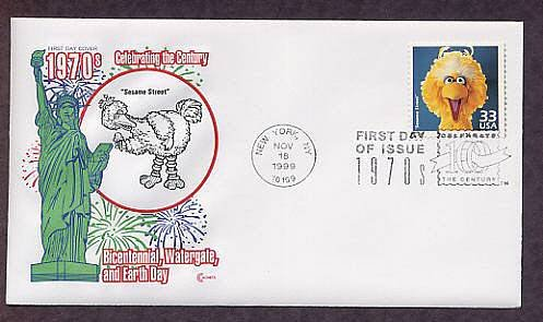 Big Bird, Sesame Street, Jim Henson Muppet, CTC FDC, First Day of Issue