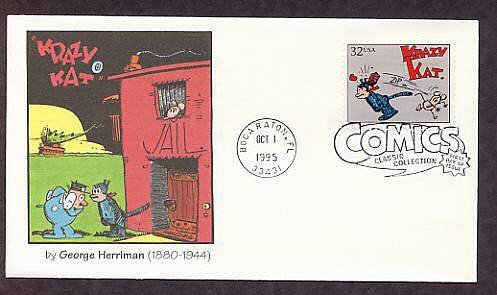 Krazy Kat, George Herriman, Classic Comics First Day of Issue USA