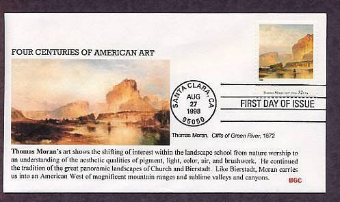 Thomas Moran, Green River Cliffs, Dean of American Landscape Painters, First Day of Issue
