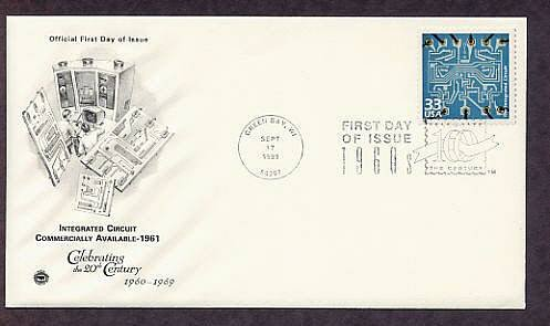 Celebrating the Century, 1960s, THE INTEGRATED CIRCUIT, FDC, First Day of Issue USA