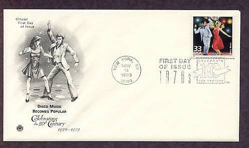 Celebrating the Century, 1970s, DISCO MUSIC, FDC, First Day of Issue