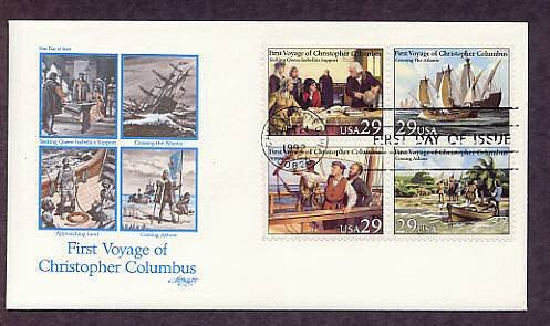 Christopher Columbus Ships, Voyage, First Issue USA