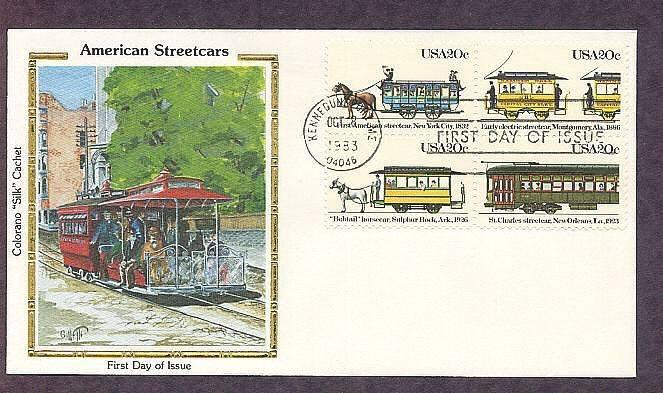 Early American Streetcars New York, Alabama, Louisiana, Arkansas, Colorano First Issue USA