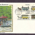 Early American Streetcars New York, Alabama, Louisiana, Arkansas, CS, First Issue USA