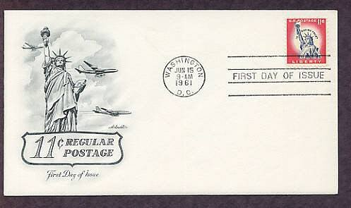 Statue of Liberty, National Monument, 1961 First Day of Issue USA