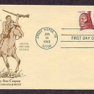 Chief Crazy Horse, Sioux Indian, Winchester Rifle First Day of Issue, Rare First Cachet FDC USA