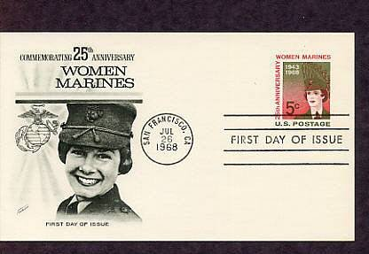 Women Marines, 25th Anniversary, First Issue USA