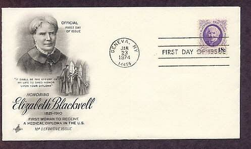 Honoring Elizabeth Blackwell, First Women Physician in the United States, First Issue USA