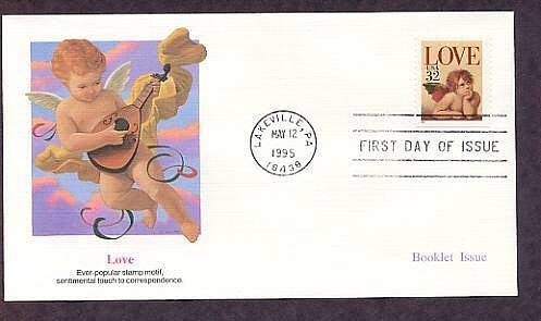 1995 USPS Love Stamp Raphael Cherub First Issue USA