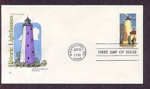 Sandy Hook Lighthouse, Oldest in USA, Atlantic City, HF, First Issue USA