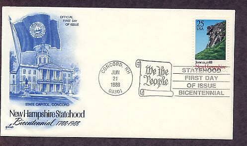 New Hampshire Bicentennial Old Man of the Mountains, AC First Issue USA