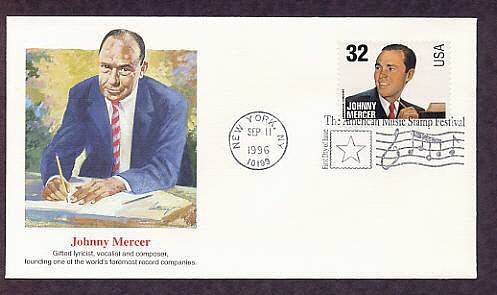 Honoring American Songwriter and Singer Johnny Mercer, First Issue USA