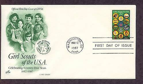 Honoring Girl Scouts of America 75th Anniversary AC First Issue USA FDC