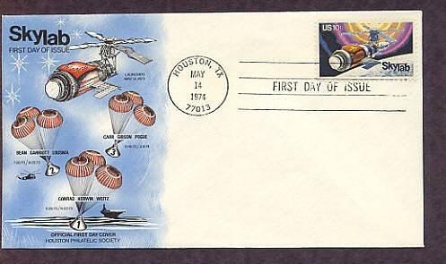 NASA Space Skylab Mission, Houston, Texas Philatelic Society  First Issue USA