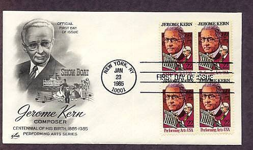 Honoring American Composer Jerome Kern, First Issue USA