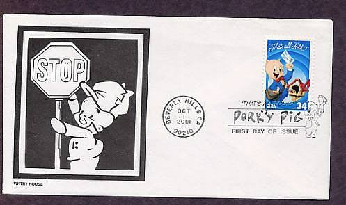 Warner Brothers Classic Animated Cartoon Characters Porky Pig First Issue USA