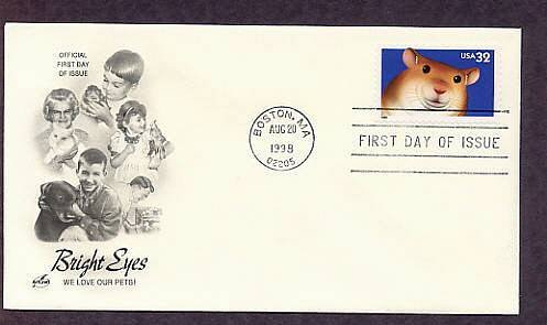 Bright Eyes Hamster, First Issue FDC USA