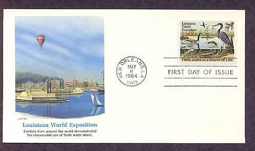 Louisiana World Exposition, Fresh Water as a Source of Life, Wildlife, First Issue USA