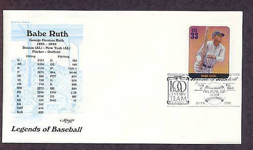 Babe Ruth, Baseball Legend, Red Sox, Yankees, First Issue USA
